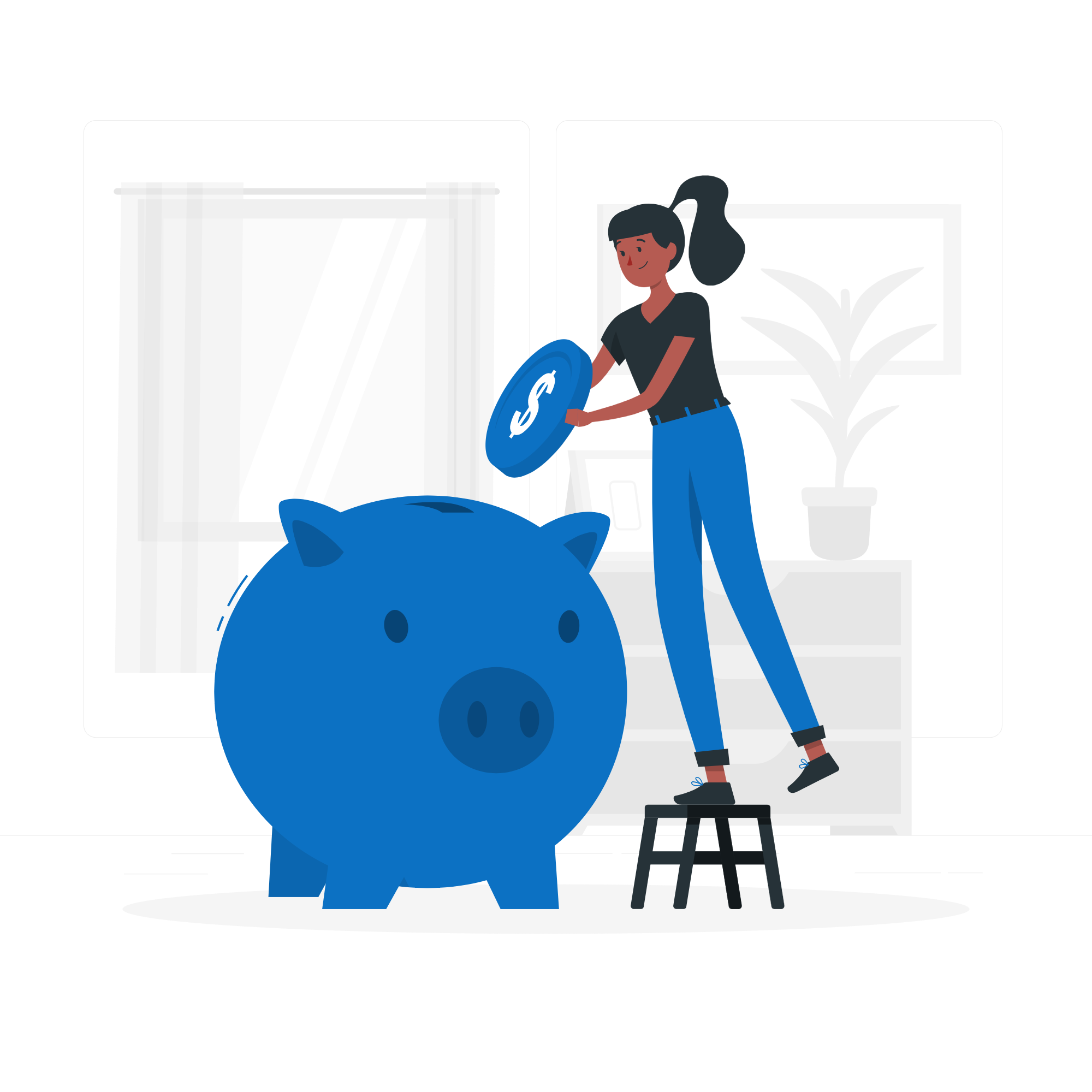 Pave SEO Woman putting coin in piggy bank